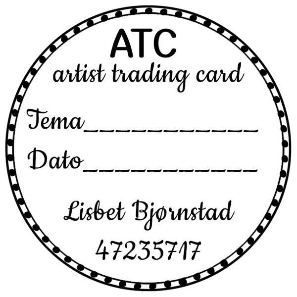 ATC rund nr.1 Prikker 5cm